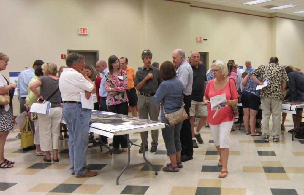 Over 100 residents filled the Cornelius Town Hall Community Room Tuesday afternoon to see the plans for widening West Catawba Ave in Cornelius between Jetton Road and Sam Furr Road