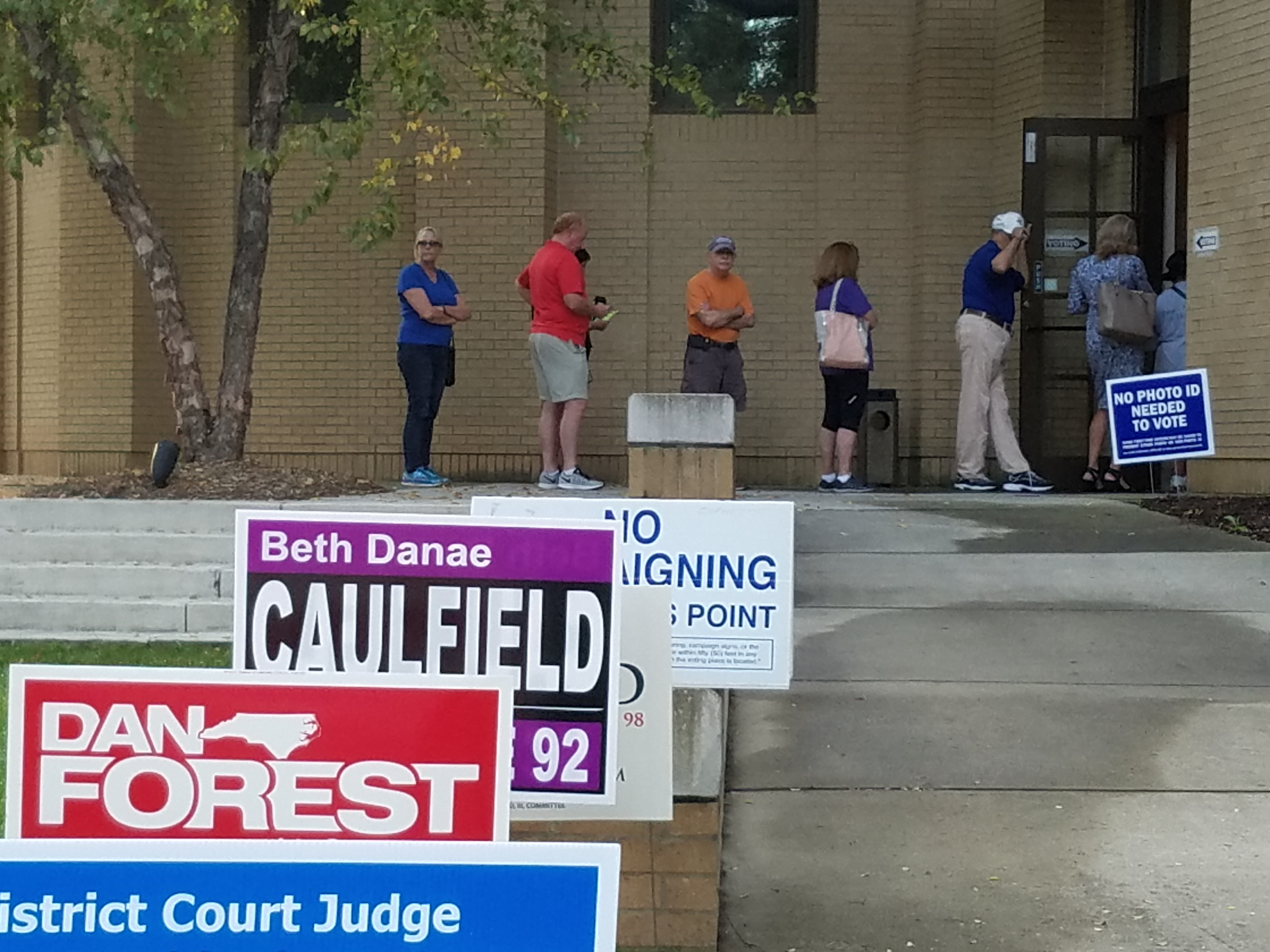 Early voting last year, sometimes there's a wait, sometimes there isn't