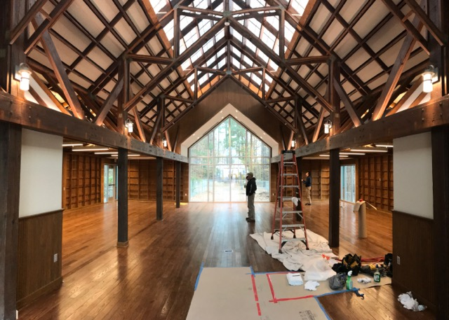 The Renovation Of A Jetton Park Landmark Is Finally Complete S Distinctive Lakefront Pavilion And Bike Barn Once An Open Air Alpine Style Facility